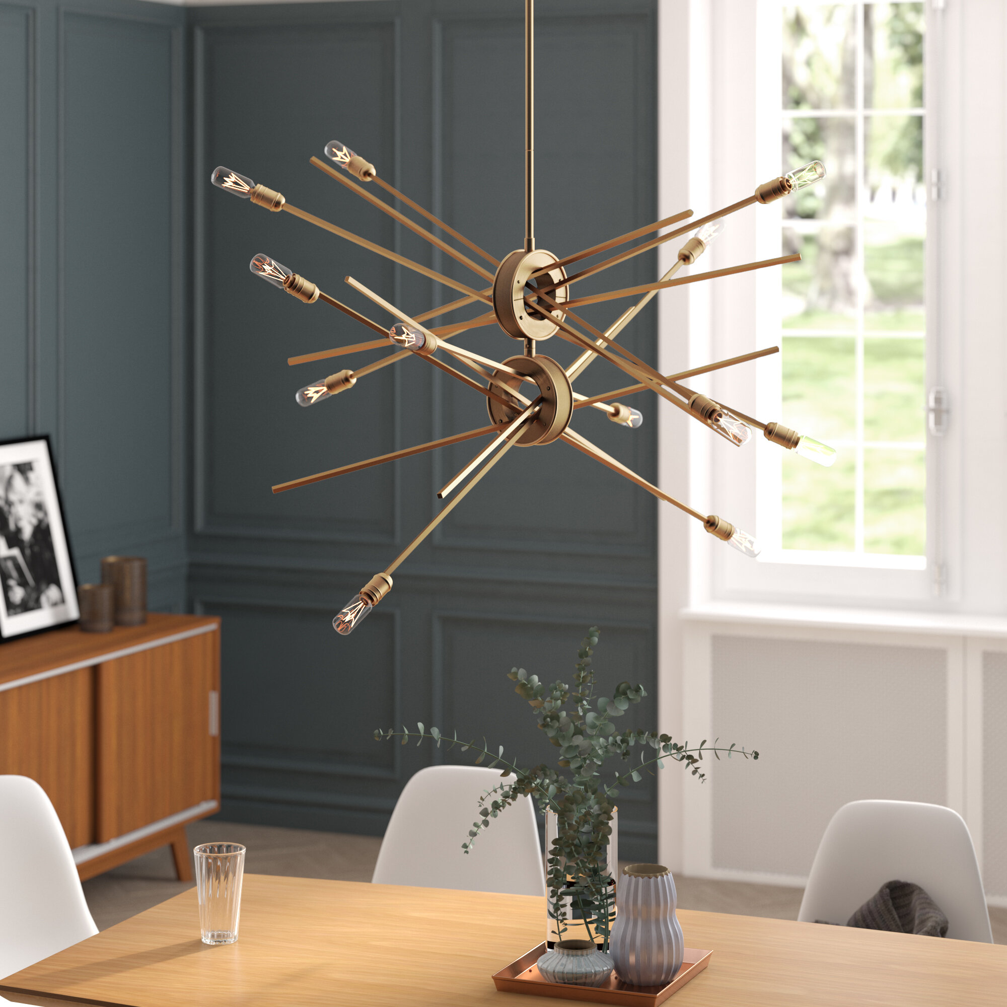 Mercury Row Byler 12 Light Sputnik Chandelier & Reviews