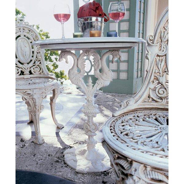 Regents Park Dragon Bistro Set Marble Bistro Table by Design Toscano