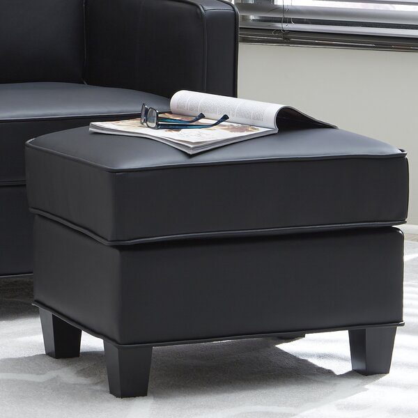 Brickey Upholstered Ottoman by Ebern Designs