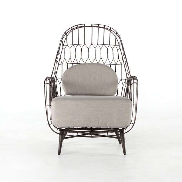 Wanaque Patio Chair with Cushion by Bungalow Rose
