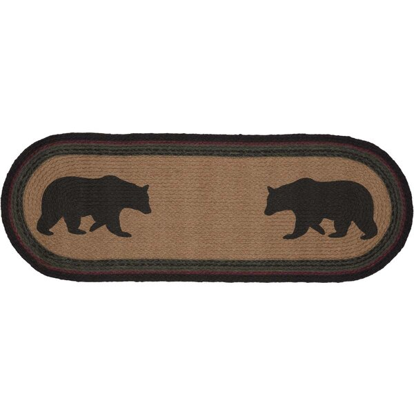 Dubay Bear Oval Jute Runner by Loon Peak