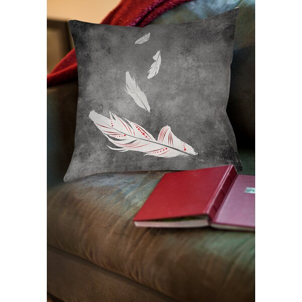 Feather Float Printed Throwv Pillow by Manual Woodworkers & Weavers