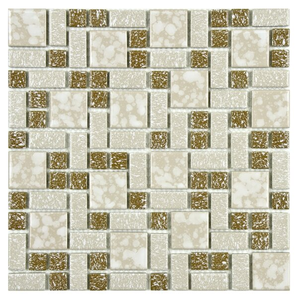 Academy Random Sized Porcelain Mosaic Tile in Beige by EliteTile