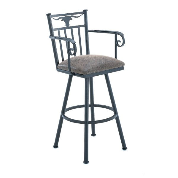 Ruben 34 Swivel Bar Stool by Millwood Pines