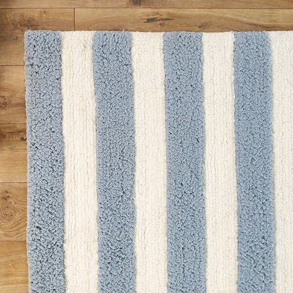 Lola Shag Hand-Woven Slate/IvoryArea Rug by Birch Lane Kids™