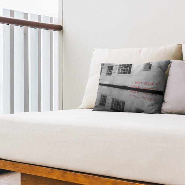 Dont Believe in Global Warming Reflection Indoor / Outdoor 14 Lumbar Pillow