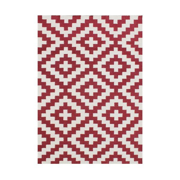 Andromaca  Hand-Tufted Red Area Rug by Wildon Home ®