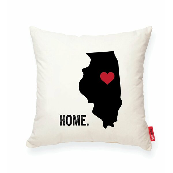 Pettry Illinois Cotton Throw Pillow by Wrought Studio