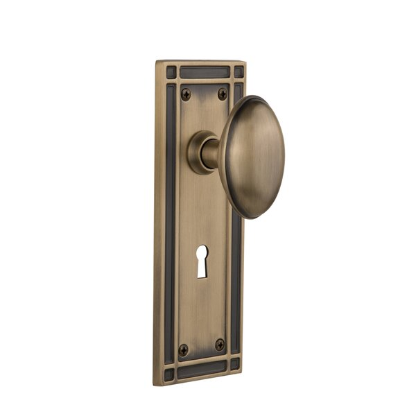 Homestead Single Dummy Door Knob with Mission Plate by Nostalgic Warehouse