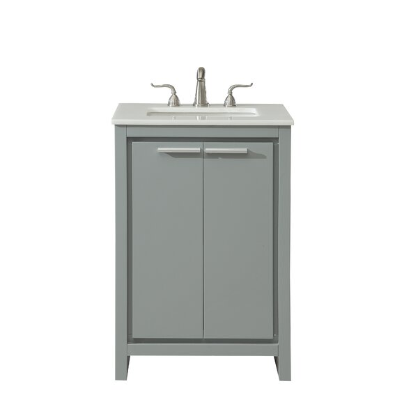 Easterling 24 Single Bathroom Vanity Set by Ebern