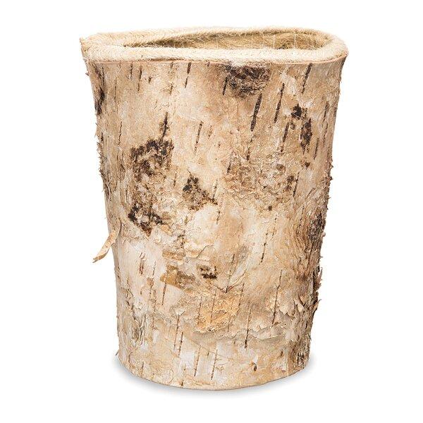 Stultz Round Birch Bark Pot Planter by Millwood Pines