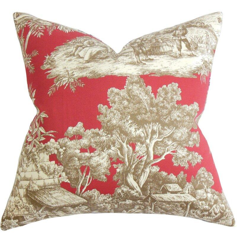 Wellhead Toile Cotton Throw Pillow #French #toile #pillow