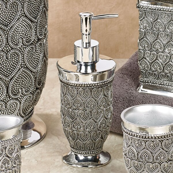 Whitechapel Beaded Heart Soap & Lotion Dispenser by House of Hampton