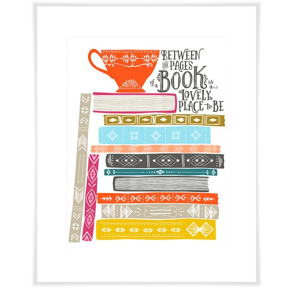 Germann Book Stack Paper Print by Brayden Studio