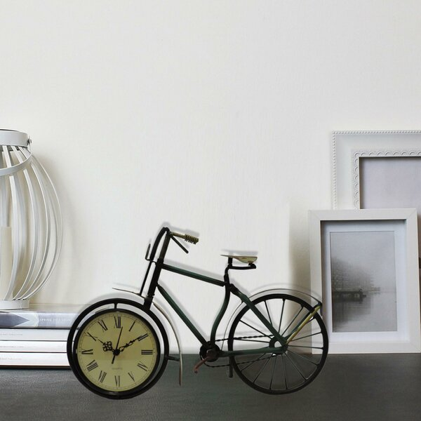 Metal Cycle Tabletop Clock by Williston Forge