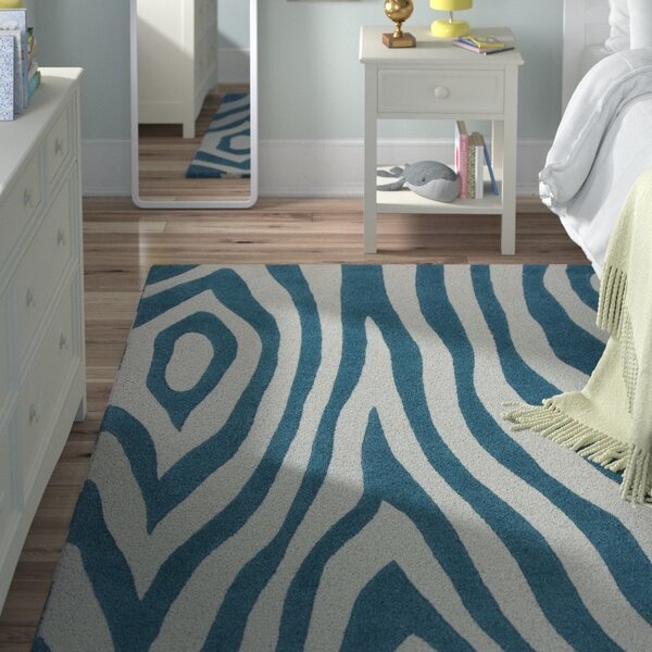 Shari Teal Wild Side Area Rug by Viv + Rae