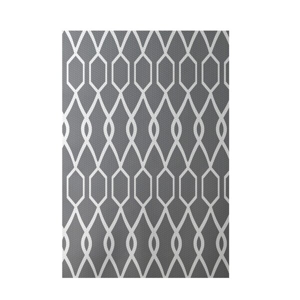 Charleston Geometric Print Classic Gray Indoor/Outdoor Area Rug by e by design