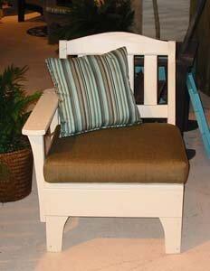 Westport One Arm Chair with Cushions by Uwharrie Chair Uwharrie Chair