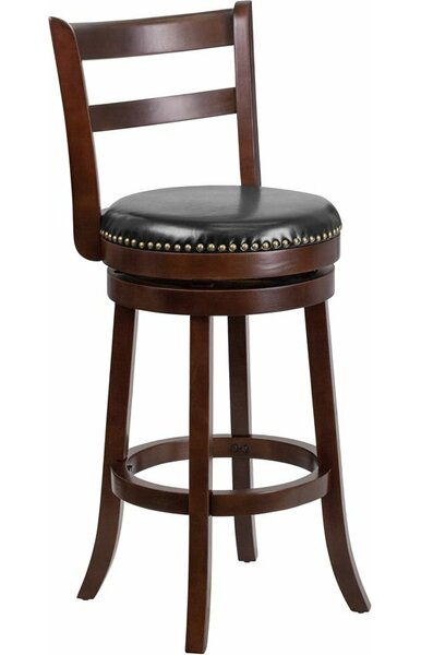 Jenkin 30'' Ladder Back Swivel Bar Stool by Charlton Home Charlton Home