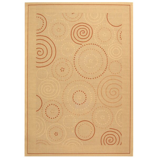 Mullen Transitional Circles Outdoor Rug by Ebern Designs