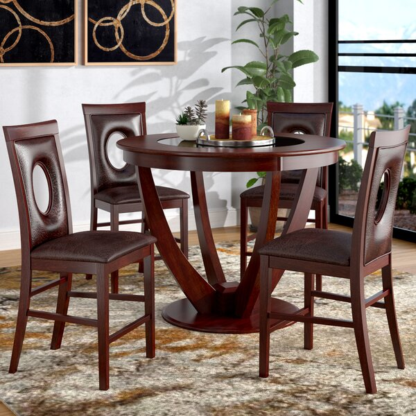 Depriest 5 Piece Counter Height Pub Table Set by Latitude Run