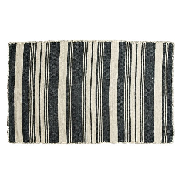 Burkhart Natural/Black Area Rug by Trent Austin Design