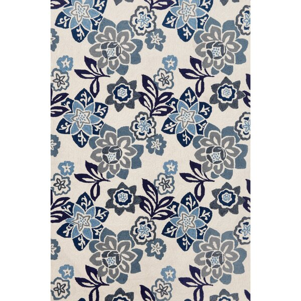 Dazey Blue/White Outdoor Area Rug by August Grove