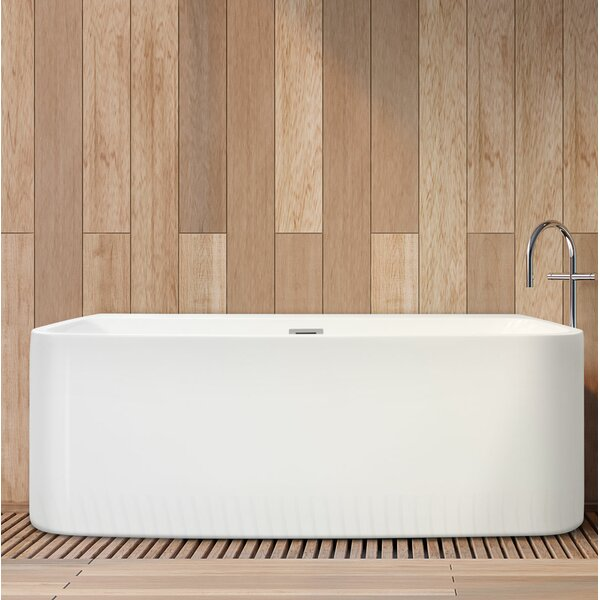Aria 59 x 28 Freestanding Soaking Bathtub by Pacific Collection