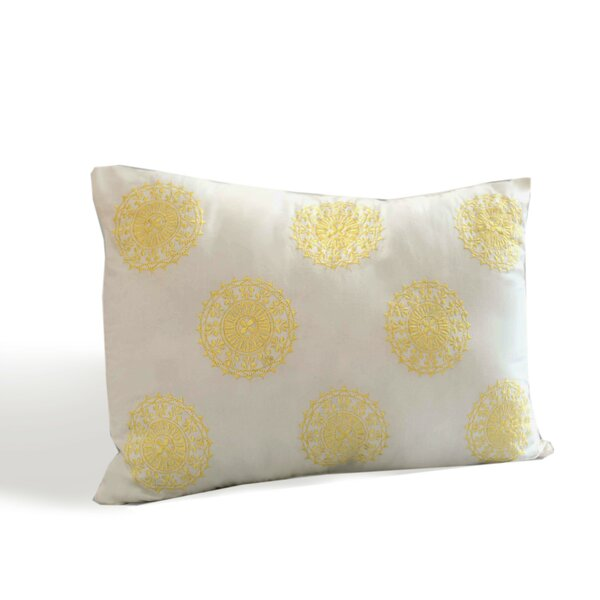 Sun Beam Decorative Cotton Boudoir/Breakfast Pillow by Dena Home