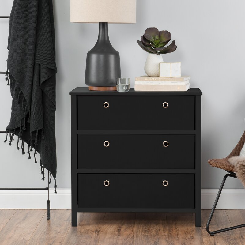 3 Drawers Single Dresser