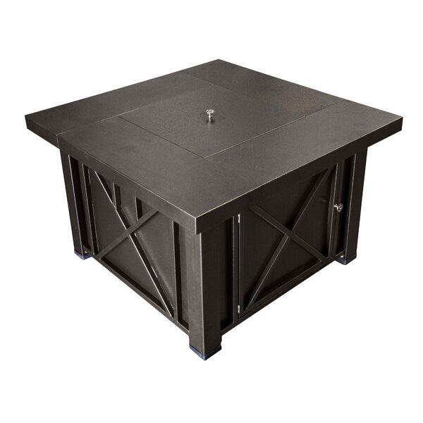 AZ Patio Heaters Lyons Steel Propane Fire Pit Table U0026 Reviews | Wayfair
