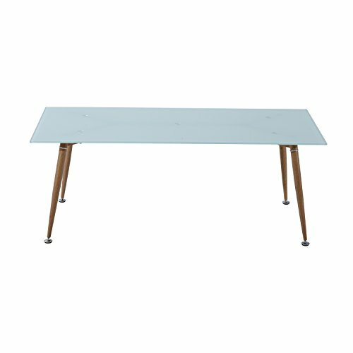 Chea Mid-Century Modern Tempered Glass Retro Coffee Table by Wrought Studio