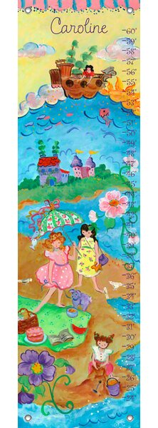 Girl by the Sea - Personalized Canvas Growth Chart by Oopsy Daisy