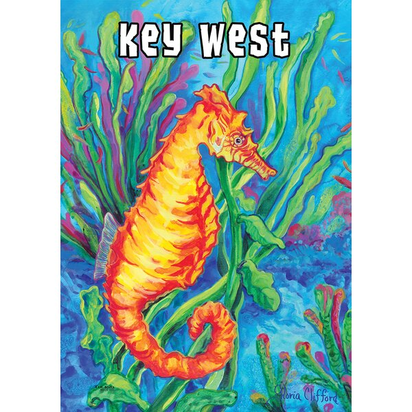 Sea Horse-Key West 2-Sided Garden flag by Toland Home Garden