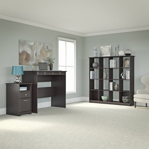 Hillsdale Standing Desk with 16-Cube Bookcase and 2 Drawer Pedestal by Red Barrel Studio