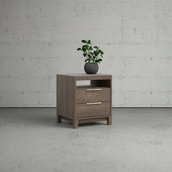 Quintara Rainier 2 Drawer Nightstand by Foundry Select Foundry Select