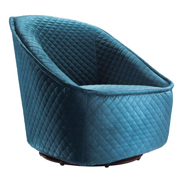 Roddy Swivel Barrel Chair by Willa Arlo Interiors