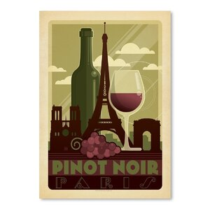 Wine Pinot Noir Vintage Advertisement by East Urban Home