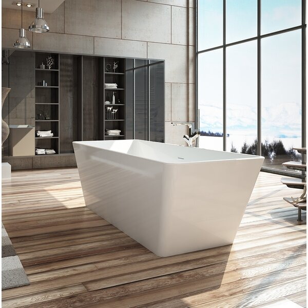 Onsen 63 x 28 Freestanding Soaking Bathtub by Wet Republic