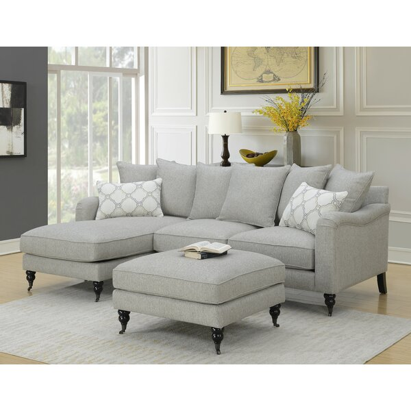 Amelie Sectional with Ottoman by Charlton Home