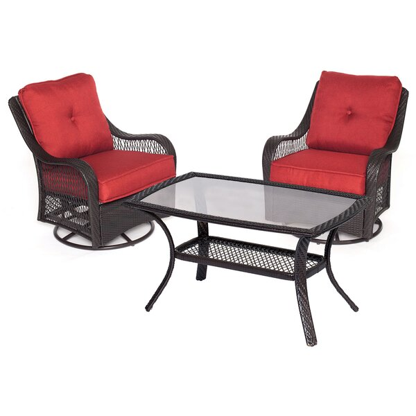 Innsbrook 3 Piece Conersation Set with Cushions by Alcott Hill