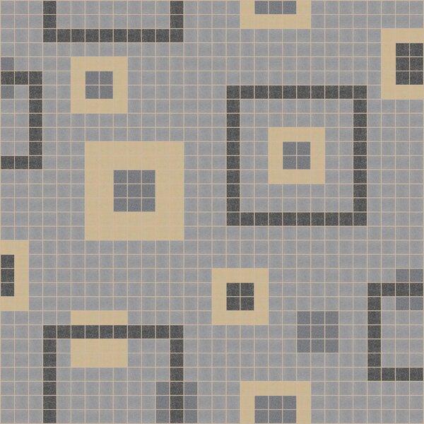 Urban Essentials Balanced Squares 3/4 x 3/4 Glass Glossy Mosaic in Urban Khaki by Mosaic Loft
