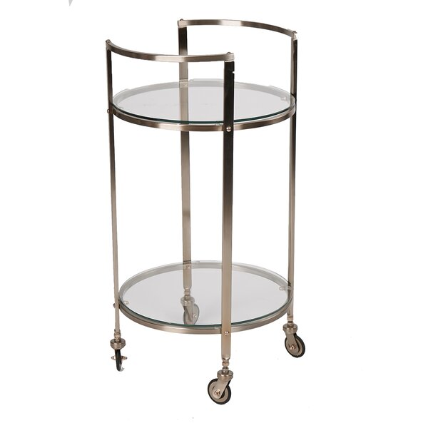 2 Tier Bar Cart by Mind Reader Mind Reader