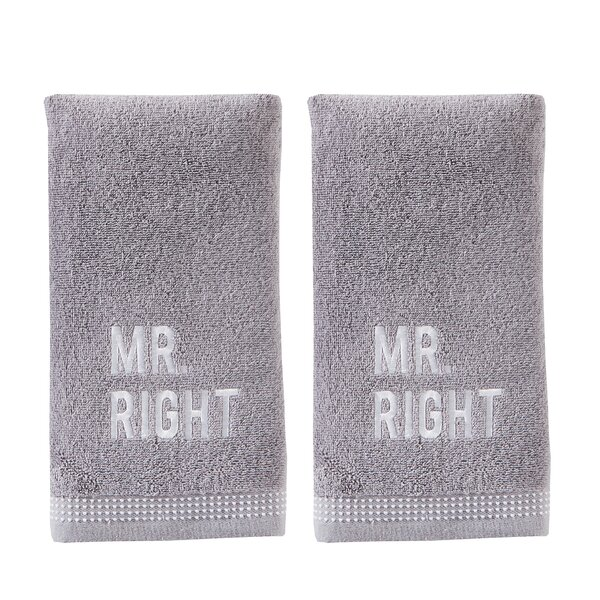 Wardell Mr Right Cotton Hand Towel (Set of 2) by Winston Porter