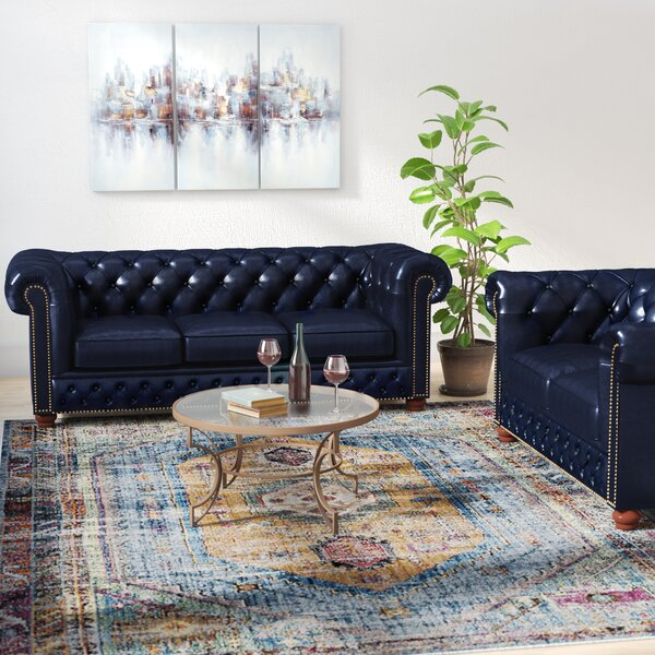 Forsyth Leather 2 Piece Living Room Set by Trent Austin Design