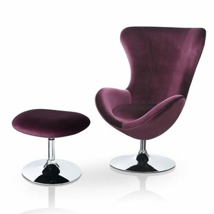 Low priced Kirree Contemporary Balloon Chair and Ottoman by Willa Arlo Interiors