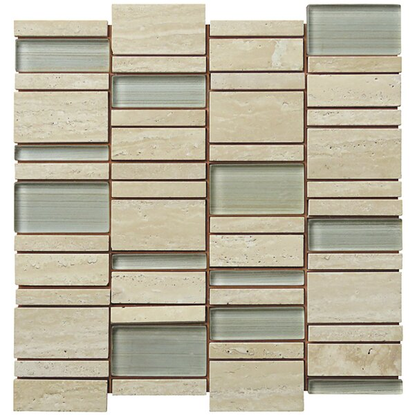 Random Sized Natural Stone Mosaic Tile in Tan by Intrend Tile