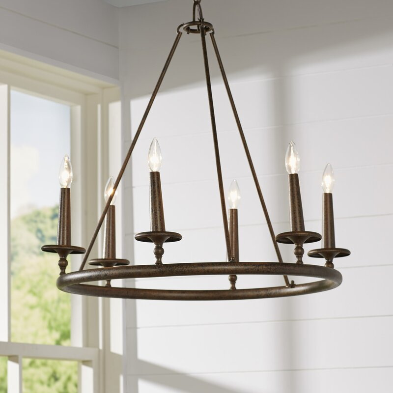 The Peak Of Très Chic Kitchen Light: Loon Peak Bedford 6-Light Candle-Style Chandelier