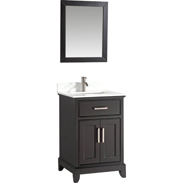 Cloran 24 Single Bathroom Vanity Set with Mirror by Gracie OaksCloran 24 Single Bathroom Vanity Set with Mirror by Gracie Oaks