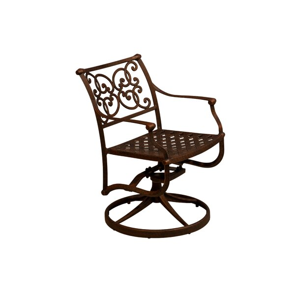 Palmhurst Swivel Patio Dining Chair (Set Of 2) By Fleur De Lis Living